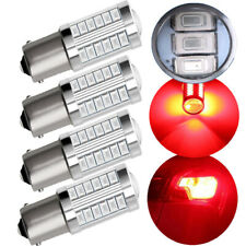 4X Bright Red P21W 1156 BA15S Cree 33 5730 SMD LED Bulbs Car Backup Brake Light