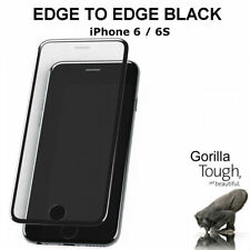 Genuine Full Cover Tempered Glass Screen Protector Curved Black for iPhone 6S/6