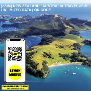 [eSIM] New Zealand Australia travel SIM Unlimited data |Overseas roaming QR code