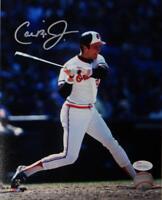 Cal Ripken Jr Autographed Baltimore Orioles 8x10 PF Photo Swinging JSA W Auth *S