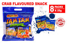 Crab Flavoured Snack Food SNEK KU TAM TAM 8 Packs x 25g Must Try Delicious Taste