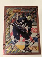 1996-97 Topps Finest Sterling Bronze #177 Mats Sundin Toronto Maple Leafs Card