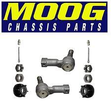 For Isuzu Honda Pair Set of 2 Front Inner Steering Tie Rod Ends Moog ES2953