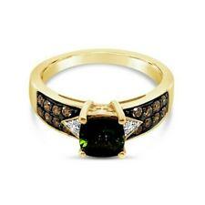 Nuevo Anillo Turmalina chocolate diamantes Levian ® ® ® Diamantes De Vainilla 14K Verde Oro