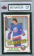 Clark Gillies 1981-82 OPC 81 NHL Card #202 KSA 7.5