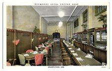 Redwoods Hotel Coffee Shop, Grants Pass, OR Postcard *5D