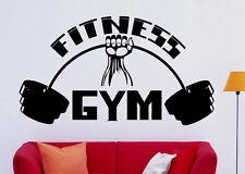 Fitness Gym Wall Decal Vinyl Sticker Sport Interior Home Mural Art Decor (23f1t)