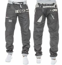 BNWT LATEST MENS ENZO CUFFED JEANS  JOGGERS PANTS IN 3 FASHION COLOURS 28 TO 48