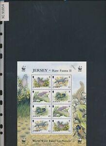 XC91854 Jersey 2004 WWF animals fauna flora wildlife good sheet MNH