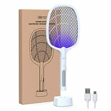 IMIRROR Bug Zapper Mosquito Killer Mosquitoes Trap Lamp Racket 2 in 1 USB Re