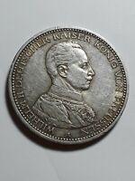 German Empire Prussia 1913 A 5 mark         KM 536   XF/AU