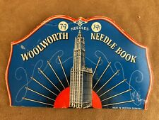 Vintage Woolworth needle case sewing Advertisement America's assorted