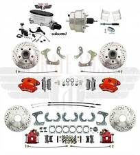 1958-68 Impala Front & Rear Disc Brake Kit Wilwood Calipers & Chrome Booster