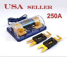 Digital Display ANL Fuse Holder Gold Plated 0 Gauge 2Free Fuse 250A FH61B