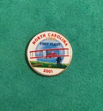 North Carolina 2001 State Quarter Painted Colorized Background Collectible Coin
