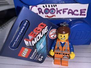 GENUINE THE LEGO MOVIE 1 EMMET MINIFIGURE KEYRING 850894