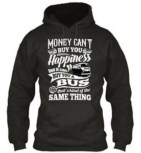 Happiness Is A Bay Bus Hoodies Standard College Hoodie - Poly/Cotton Blend