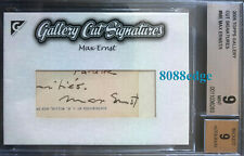 2005 TOPPS GALLERY CUT AUTO: MAX ERNST #1/1 SURREALISM DADA AUTOGRAPH BGS 9 MINT