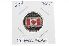 Canada 25 Cent Quarter Collection - 2015 Canada Flag Color UNC