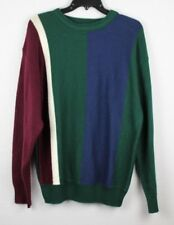 Vintage American Weekend men's tennis sweater acrylic green blue size S