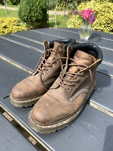 Men's Dr Martens Gaucho Crazy Horse BOOTS Size-UK 10 -Brown Leather