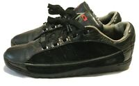 Rare Oakley Three Palms Shoes Men's 9 Black Leather & Suede Chip Foose Racing