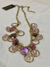Cookie Lee NWT Genuine Pink Shell Gold Tone Necklace