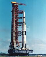 ROLLOUT OF THE APOLLO 11 SATURN V ROCKET - 8X10 NASA PHOTO (ZZ-149)