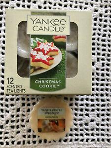 "Yankee Candle ""Christmas Cookie"" Tea Lights (11) + Wax Melt ""Vanilla Honey"" new"
