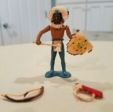 Vintage plastic Marx Indian with accesories RARE!
