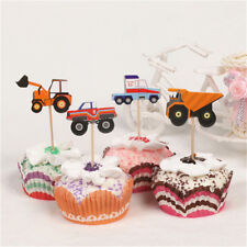 24X cartoon car truck cupcake toppers picks birthday party baby shower decor KQ