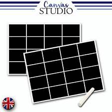32x Rectangle Blackboard Chalkboard Vinyl Craft Label Sticker Chalk Jam Jar
