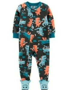 Carter's Infant Boy's 1-Piece Dragon Fleece Footie PJs 12 months  NEW
