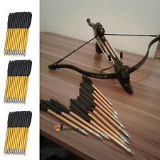 36PCS Metal Arrow For 50 80lb Pistol Crossbow Bolts Bow Shooting Hunting Archery