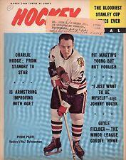 1964 (Mar.) Hockey Pictorial Magazine, Pierre Pilote, Chicago Blackhawks ~ Fair