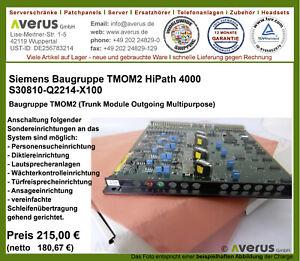 Siemens HiPath 4000 TMOM2 / S30810-Q2214-X100  /  Rg. incl. MwSt.