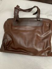 FRANCESCO BIASIA Leather Tote Bag Large Brown Leather Made in Italy