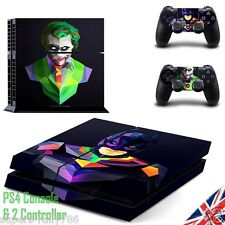Batman & Joker Playstation PS4 Set Completo Pegatina Calcomanía Envoltura de piel oscura noche Cont