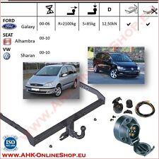 Gancio traino fisso VW Sharan 2000-2010 + kit elettrico 7-poli OMOLOGAZIONE