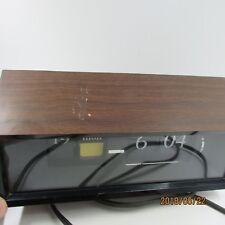 Vintage Copal 602 Flip Number Modern Design Clock Dark Brown Date,Day,Time