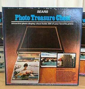 Sears Photo Treasure Chest Vintage Album 200 3x5 Pictures Prints