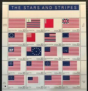 2000 - 33¢ - Scott #3403a-t - STARS AND STRIPES  - Full Sheet of 20, Mint NH