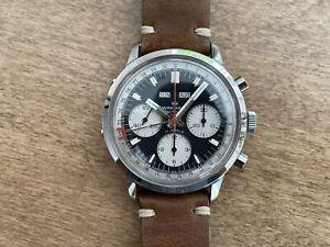 Wakmann Breitling Triple date Calendar Chronograph - Panda Dial - Valjoux
