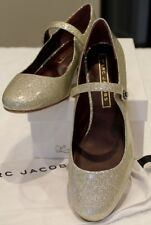 Marc Jacobs Lexi Patent Leather Mary Jane Pump Diamond Sparkle US 8.5 EU 39 NIB