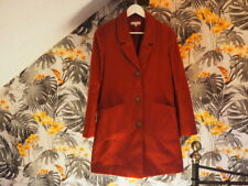 Red Herring Burgundy Coat Jacket Size 10