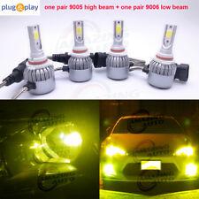 Amazing Combo 9005 9006 LED Headlight Bulbs Kit High&Low Beam Canbus 55W 3000K