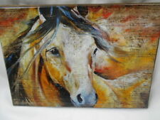 """Artist Marcia Baldwin Horse Painting-""""PAINTED WIND EQUINE""""- #23519- on Wood"""