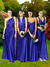 Custom Bridesmaid Evening Jeresy Convertible Multi Way Wrap Twist Dress Size6-30