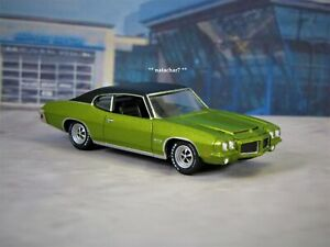 1971 71 Pontiac GTO Anti Freeze Green 1/64 Scale Limited Edition Muscle Car R