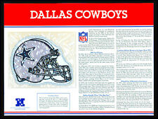 DALLAS COWBOYS ~ NFL TEAM EMBLEM PATCH COLLECTION + STAT CARD ~ Willabee & Ward